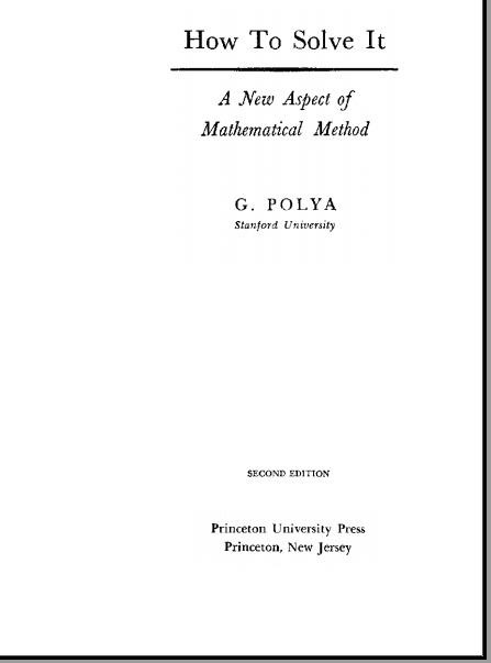 buku problem solving polya